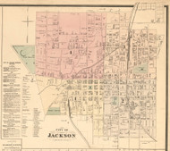 Jackson Village, District 15, Tennessee 1877 Old Town Map Custom Print Madison Co.