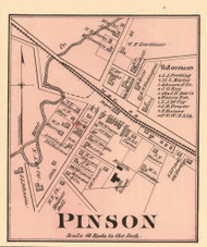 Pinson Village, District 1, Tennessee 1877 Old Town Map Custom Print Madison Co.