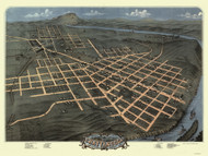 Chattanooga, Tennessee 1871 Bird's Eye View