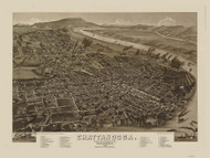 Chattanooga, Tennessee 1886 Bird's Eye View