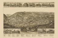 Harriman, Tennessee 1892 Bird's Eye View