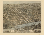 Knoxville, Tennessee 1871 Bird's Eye View