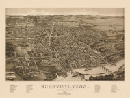 Knoxville, Tennessee 1886 Bird's Eye View