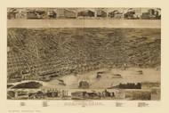 Memphis, Tennessee 1887 Bird's Eye View
