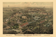 Nashville, Tennessee Centennial Exposition,  1897 Bird's Eye View