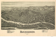 Buckhannon, West Virginia 1900 Bird's Eye View - Davis
