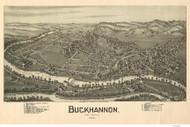 Buckhannon, West Virginia 1900 Bird's Eye View - Davis