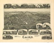 Cairo, West Virginia 1899 Bird's Eye View - Flint