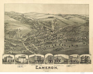 Cameron, West Virginia 1899 Bird's Eye View