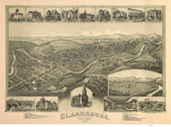 Clarksburg, West Virginia 1898 Bird's Eye View