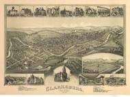 Clarksburg, West Virginia 1898 Bird's Eye View
