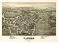 Elkins, West Virginia 1897 Bird's Eye View