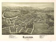 Elkins, West Virginia 1897 Bird's Eye View
