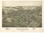 Mannington, West Virginia 1897 Bird's Eye View