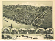 New Martinsville, West Virginia 1899 Bird's Eye View