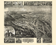 Parsons, West Virginia 1905 Bird's Eye View