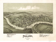Phillippi, West Virginia 1897 Bird's Eye View
