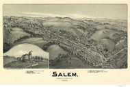Salem, West Virginia 1899 Bird's Eye View