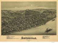 Sisterville, West Virginia 1896 Bird's Eye View