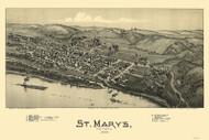 St. Marys, West Virginia 1899 Bird's Eye View