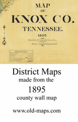 Map Cartouche, Knox Co. Tennessee 1895 Old Town Map Custom Print