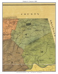 District 4 - Corryton, Tennessee 1895 Old Town Map Custom Print Knox Co.