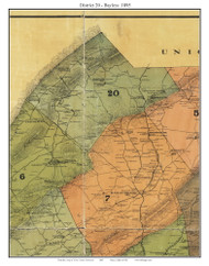 District 20 - Bayless, Tennessee 1895 Old Town Map Custom Print Knox Co.