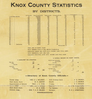County Statistics and Information, Knox County, Tennessee 1895 Old Town Map Custom Print