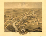 Anoka, Minnesota 1869 Bird's Eye View