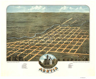Austin, Minnesota 1870 Bird's Eye View