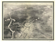 Brainerd, Minnesota 1914 Bird's Eye View - Davis