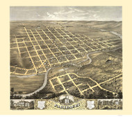 Faribault, Minnesota 1869 Bird's Eye View
