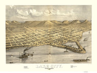 Lake City, Minnesota 1867 Bird's Eye View