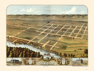 New Ulm, Minnesota 1870 Bird's Eye View