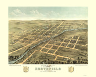 Northfield, Minnesota 1869 Bird's Eye View