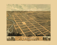 Owatonna, Minnesota 1870 Bird's Eye View