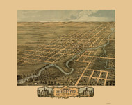 Rochester, Minnesota 1869 Bird's Eye View