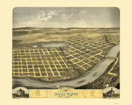 Saint Cloud, Minnesota 1869 Bird's Eye View