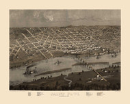 Saint Paul, Minnesota 1867 Bird's Eye View