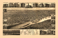 Saint Paul, Minnesota 1883 Bird's Eye View