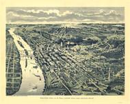 Saint Paul, Minnesota 1893 Bird's Eye View