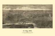Saint Paul, Minnesota 1888 Bird's Eye View