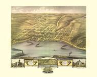 Stillwater, Minnesota 1870 Bird's Eye View