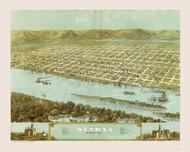 Winona, Minnesota 1867 Bird's Eye View