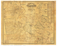 Williamson County Tennessee 1878 - Old Map Reprint