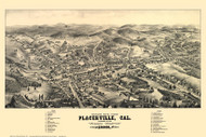 Placerville, California 1888 Bird's Eye View (Map Only)