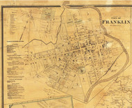Franklin Village, District 9, Tennesee 1878 Old Town Map Custom Print Williamson Co.