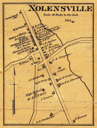 Nolensville Village, District 17, Tennesee 1878 Old Town Map Custom Print Williamson Co.