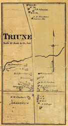 Triune Village, District 18, Tennesee 1878 Old Town Map Custom Print Williamson Co.