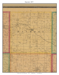 Raymore, Cass Co. Missouri 1877 Old Town Map Custom Print Cass Co.